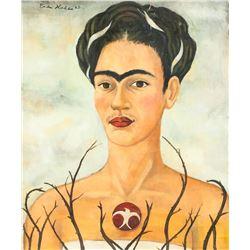 Attr Frida Kahlo Mexican Oil Canvas Self-Portrait