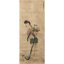 Yang Yin 1470-1524 Chinese Watercolor Beauty