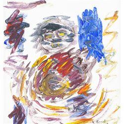 Karel Appel Dutch Modernist Oil on Canvas '51