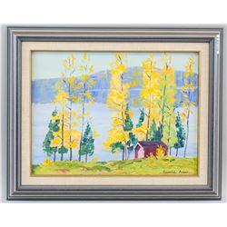 Leonard Amos Canadian Oil on Panel Landscape