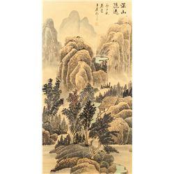 Wang Yuanqi 1642-1715 Chinese Watercolor Landscape