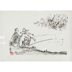 Ran In Ting 1903-1979 Taiwanese Ink on Paper