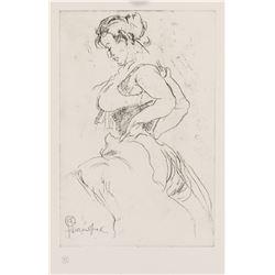 Henri de Toulouse-Lautrec French Signed Linocut