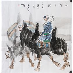 Liu Dawei b.1945 Chinese Watercolor Girl