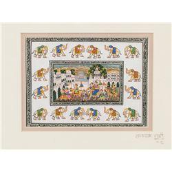 Raja Ram Sharma Indian Watercolor on Silk
