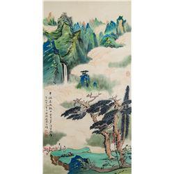 Zhang Daqian 1899-1983 Chinese Watercolor Landscap