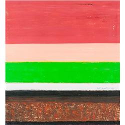 Barnett Newman American Oil on Canvas 1970