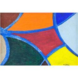 Max Bill Swiss De Stijl Oil on Canvas