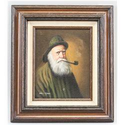 Charles van Meer Dutch Oil on Canvas Portrait