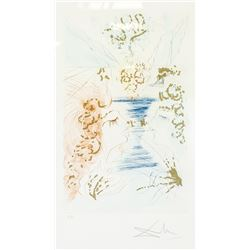 Salvador Dali Spanish Litho w/Gold Ink Adam & Eve