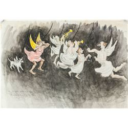 Lucile Blanch American Mixed Media Angel Orchestra