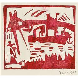 Lyonel Feininger American Signed Woodcut on Paper
