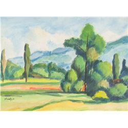 Gabrielle Munter German Modernist Watercolor Board