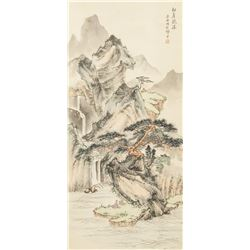 Shi Zhou Chinese Watercolor Landscape
