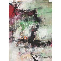 Yang Youpeng b.1975 Abstract Goauche on Paper