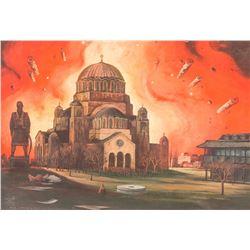 Milic od Macve 1934-2000 Serbian Oil on Panel 1991