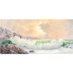 P. Alexander Oil on Canvas Seascape