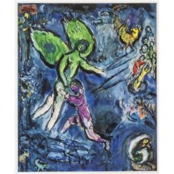 Marc Chagall French Surrealist Signed Lithograph