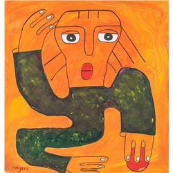 Elisha Ongere Kenyan Oil on Canvas