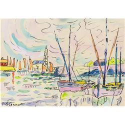 After Paul Signac French Watercolor on Paper
