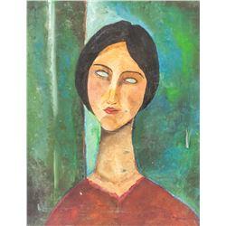 Attr Amedeo Modigliani Italian Modern Oil Canvas