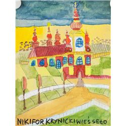 Nikifor Krynicki Polish Modernist Watercolor Paper