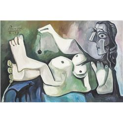 Attr. Pablo Picasso Spanish Cubist Oil Canvas Nude