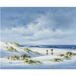 Canadian OOC Seascape Painting Signed Dabis