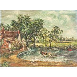 John Constable British Oil/Board Galerie Vallauris