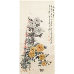 Chen Banding 1876-1966 Watercolor on Scroll