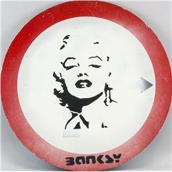 Banksy British Reflective Sign Marilyn Monroe