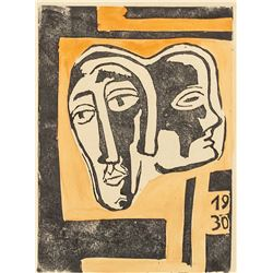 Karl Schmidt Rottluff German Signed Woodcut