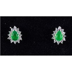 Sterling Silver Jade Earrings CRV $478