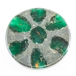 45.95ct Round Cut Natural Trapiche Emerald AGSL