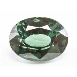 9.05ct Oval Cut Dark Green Natural Sapphire GGL