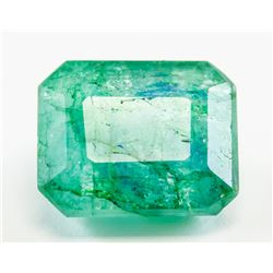 9.60ct Emerald Cut Green Natural Emerald GGL