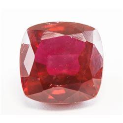 12.25ct Cushion Cut Pinkish Red Natural Ruby GGL