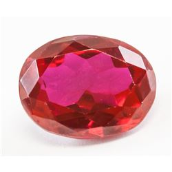 12.46ct Oval Cut Pinkish Red Natural Ruby GGL