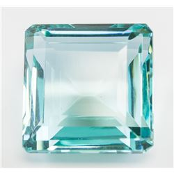 132.30ct Emerald Cut Blue Natural Aquamrine GGL
