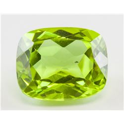 5.85ct Cushion Green Natural Sphene Titanite GGL