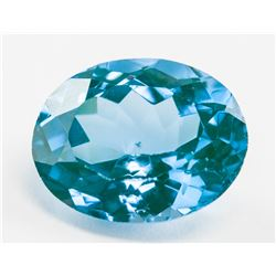 7.35ct Oval Cut Natural Indicolite Tourmaline GGL
