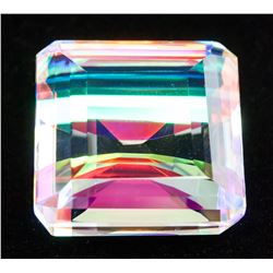 96.60ct Emerald Cut Natural Mystic Quartz GGL