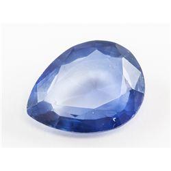 6.25ct Pear Cut Blue Kashmir Natural Sapphire GGL