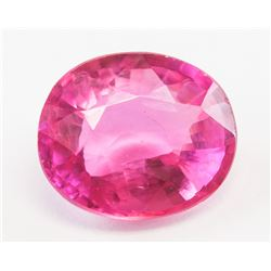 6.20ct Oval Cut Pink Natural Sapphire GGL