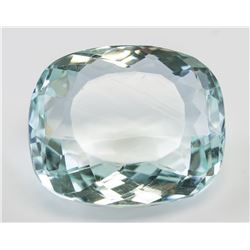 90.20ct Cushion Cut Blue Aquamarine AGSL