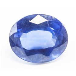 9.70ct Oval Cut Blue Natural Sapphire GGL