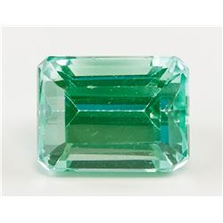 8.20ct Emerald Cut Green Natural Tourmaline GGL