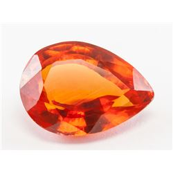 8.60ct Pear Cut Golden Natural Clinohumite GGL