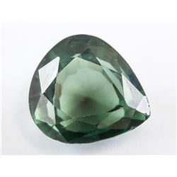 7.15ct Green Natural Sapphire Pear Cut GGL