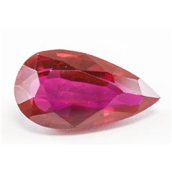 15.35ct Pear Cut Red Natural Ruby GGL Certificate